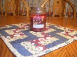 Quilted Candle Mat/Table Topper
